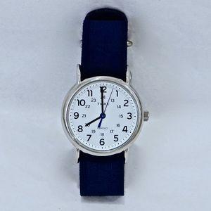 TIMEX~weekender~WOMEN'S WATCH~Silver/Blue